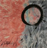 Enso in Pink and Gray