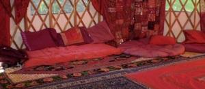 Interior Red Tent