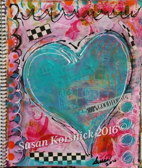 Heart Art- journaling for fun